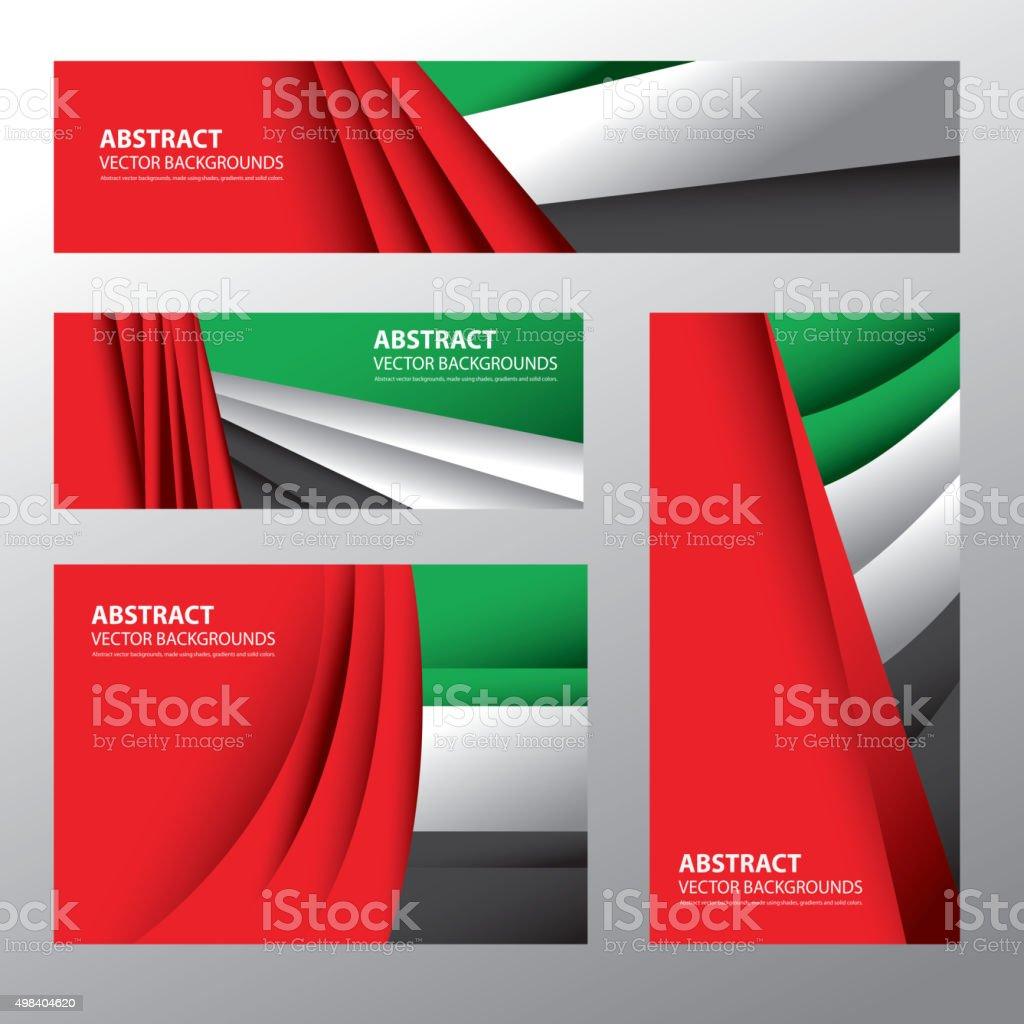 Abstract UAE Flag, Emirates Colors (Vector Art) - 免版稅2015年圖庫向量圖形