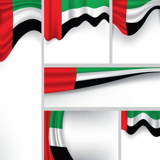 추상적임 uae 플랙, emirates 색상 (벡터 아트 - uae flag stock illustrations