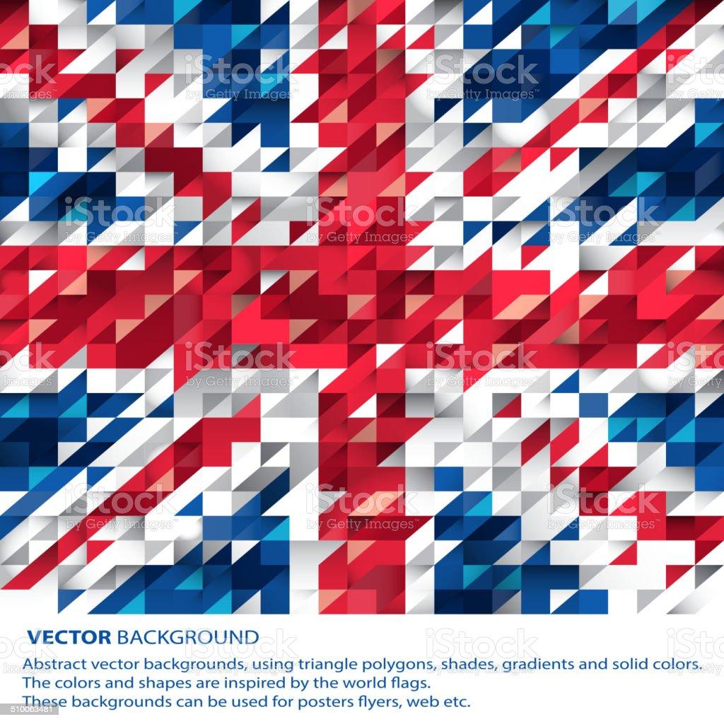 Astratto Sfondo Bandiera Del Regno Unito Inglese Immagini