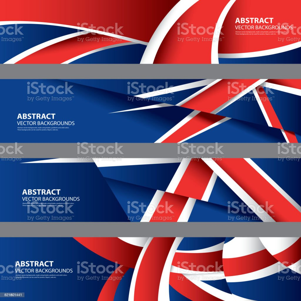 Abstract UK Background, English Flag (Vector Art) vector art illustration