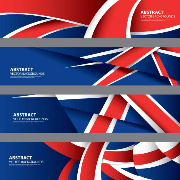 abstract uk background, english flag (vector art) - union jack flag stock illustrations, clip art, cartoons, & icons