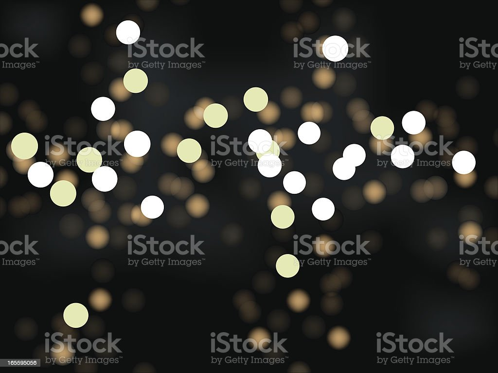 Abstract, unfocused city lights at night royalty-free stock vector art