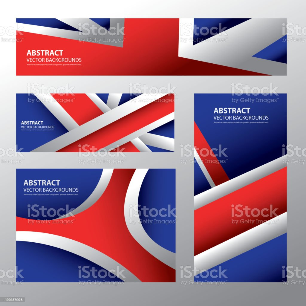 Abstract United Kingdom Flag, English Colors (Vector Art) vector art illustration