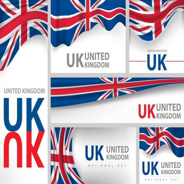 illustrations, cliparts, dessins animés et icônes de abstrait drapeau du royaume-uni, des vecteurs (anglais - drapeau du royaume uni
