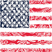 Abstract United States Of America Flag, American Colors (Vector Art)