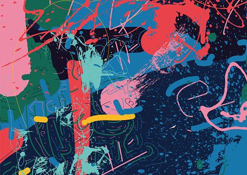 Graffito, Bildhintergrund, abstrakt, illustration