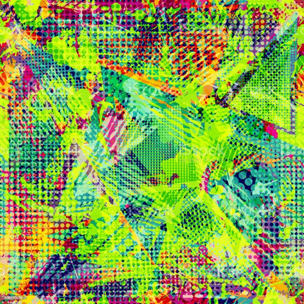 Abstract urban seamless pattern. Grunge texture background.
