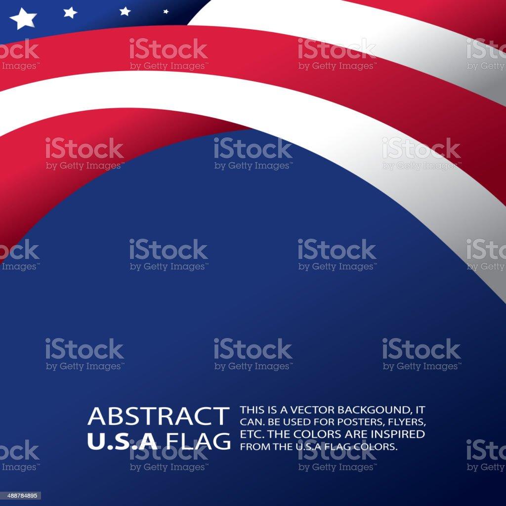 Abstract USA, American Flag (vector Art) vector art illustration