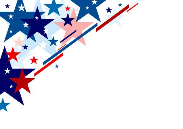 Abstract USA Hintergrund Design Unabhängigkeit Tag Banner Vektorillustration – Vektorgrafik