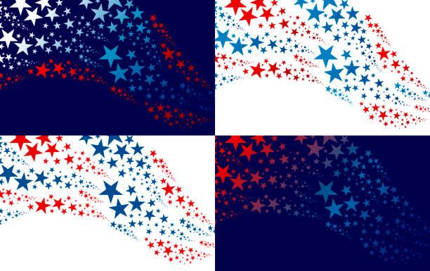 Abstrakte USA Hintergrund-Design von Stern Unabhängigkeit Tag Banner Vektor-Illustration – Vektorgrafik