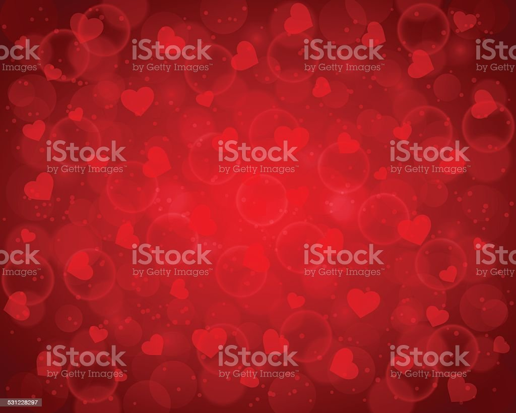 Abstract valentine's day background vector art illustration