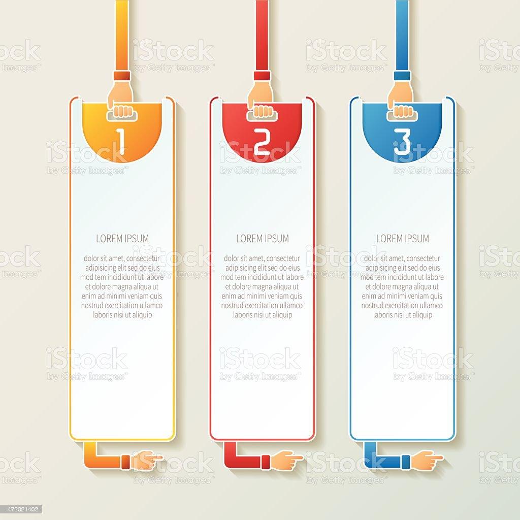 Ilustración de Abstract Vector 3 Pasos Infografía Plantilla En 3d ...