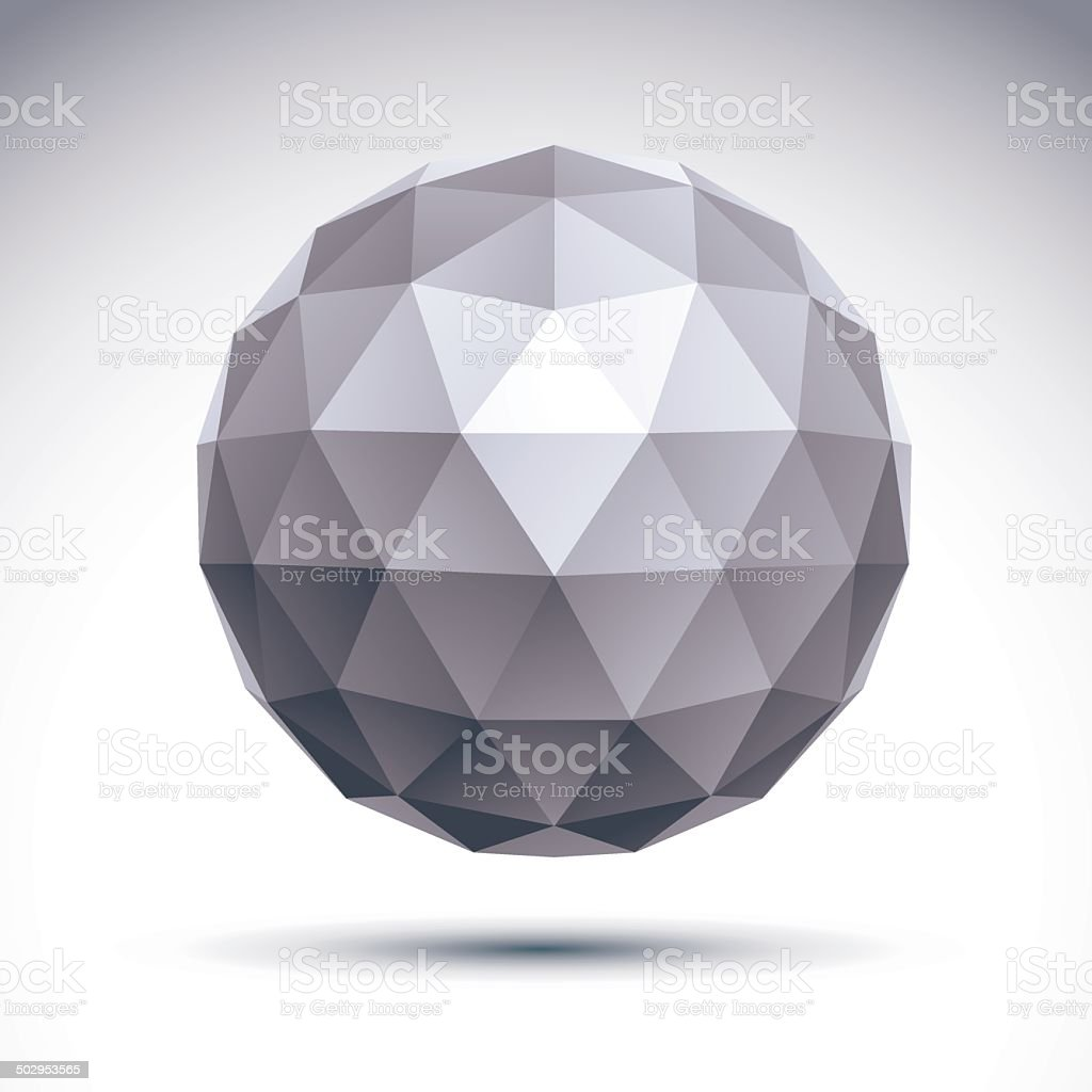 Abstract vector 3D geometric object, clear eps 8. royalty-free stock vector art