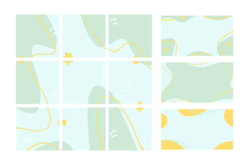 Abstract vector background for your blog. Background for nine posts and three stories