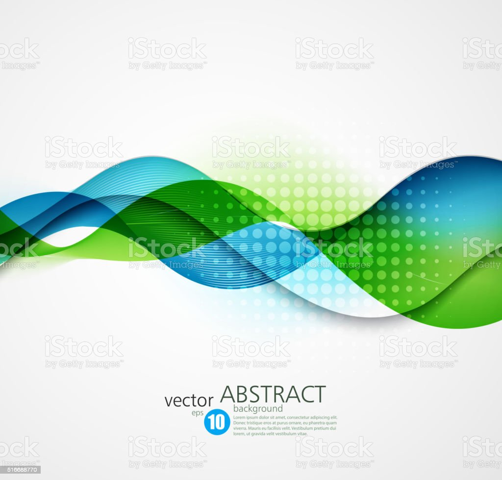 Abstract vector background, futuristic wavy vector art illustration