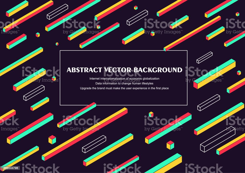 Abstract vector fond illustration avec fond de couverture colorée forme géométrique - clipart vectoriel de Art libre de droits