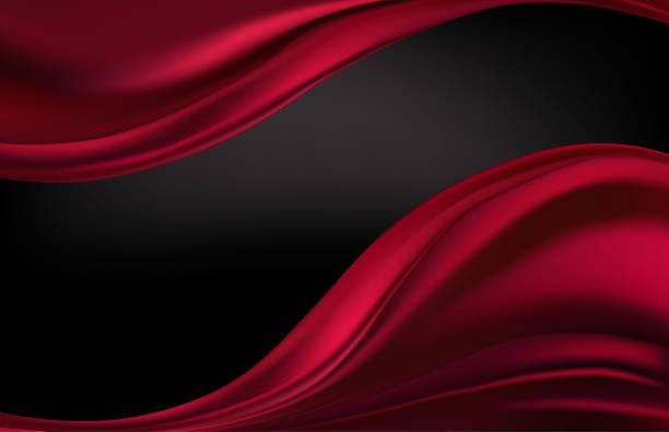 stockillustraties, clipart, cartoons en iconen met abstract vector achtergrond luxe doek of vloeistof golf of golvend plooien van grunge zijde textuur satijn fluweel materiaal - zijde