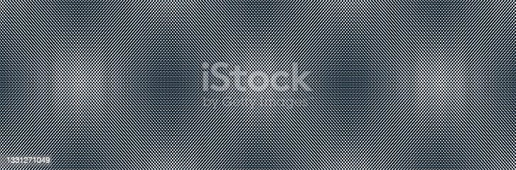 istock Abstract vector background made with dots Moire, dotted op art effect surreal texture, sound and music waves theme, black and white grid abstraction. 1331271049
