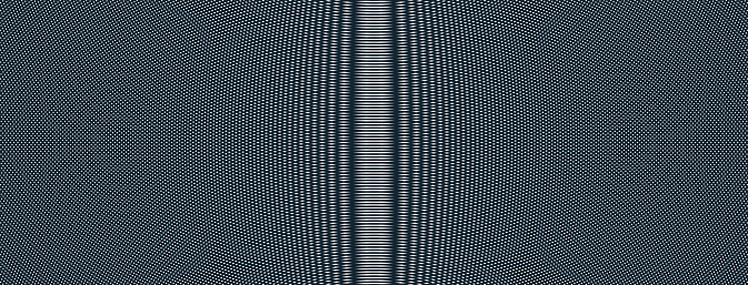 Abstract vector background made with linear Moire, op art effect surreal texture, sound and music waves theme, black and white grid abstraction.