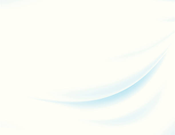 Abstract vector background of blue swoosh on white sheet vector art illustration