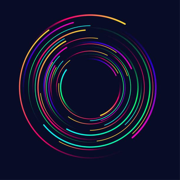 illustrazioni stock, clip art, cartoni animati e icone di tendenza di abstract vector background, spiral line - motivo concentrico