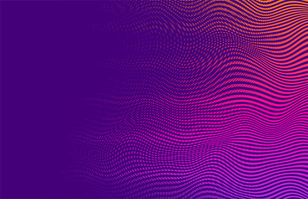 Abstract vector background Halftone gradient gradation. Vibrant  trendy texture, with blending colors. saturated color stock illustrations