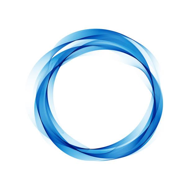 青い丸印のついた抽象的なベクトルの背景 - 円形点のイラスト素材/クリップアート素材/マンガ素材/アイコン素材