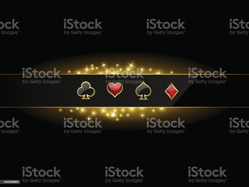 Abstract vector background with casino design elements vector art illustration