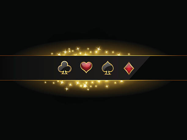 bildbanksillustrationer, clip art samt tecknat material och ikoner med abstract vector background with casino design elements - black jack