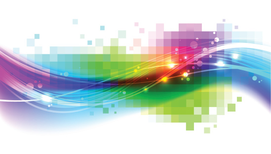 Abstract vector background with colorful wave:
