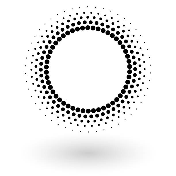 Abstract vector background with halftone dots circle. Creative geometric pattern Abstract vector background with halftone dots circle. Creative geometric pattern blurred motion stock illustrations