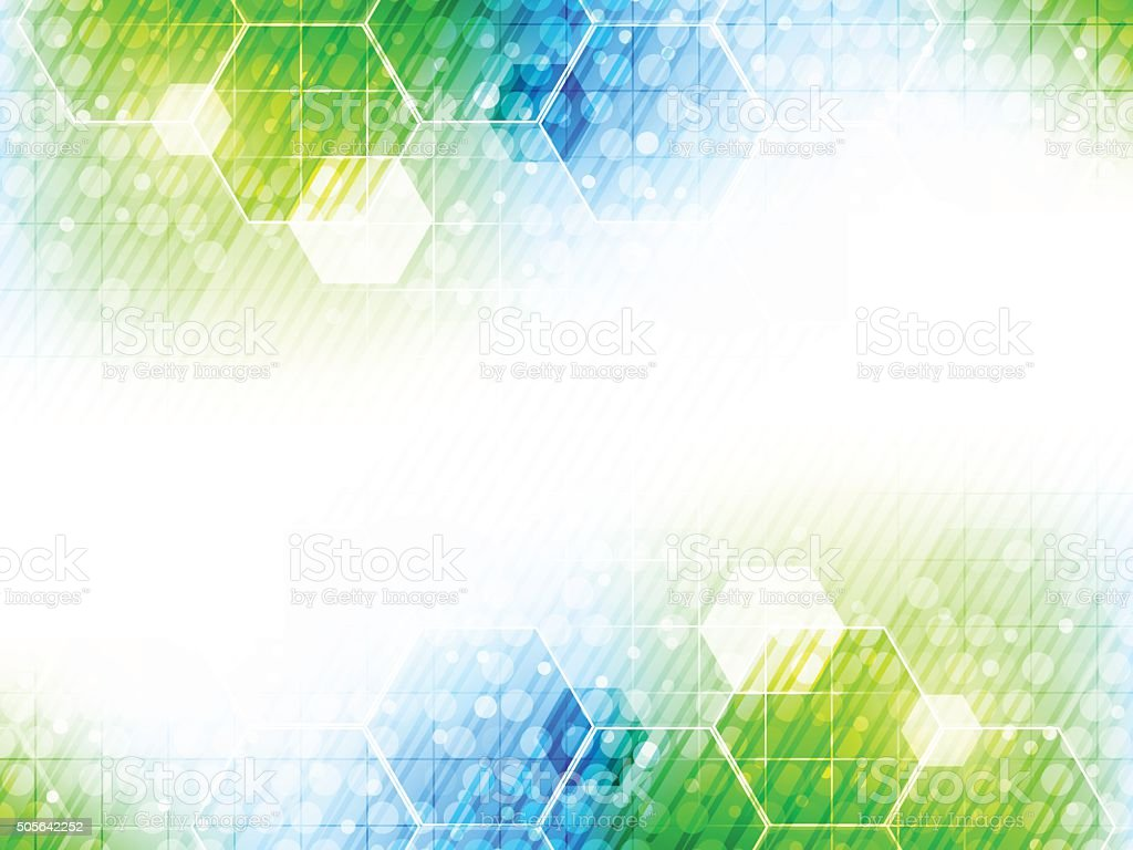 Abstract vector background with hexagon pattern and shiny effect. vector art illustration