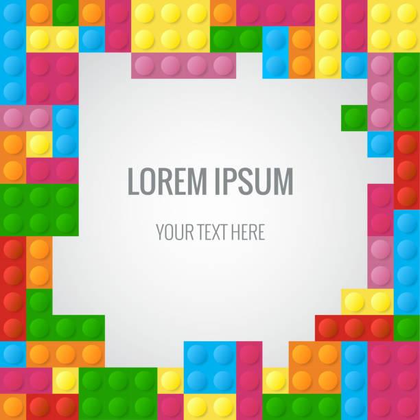 stockillustraties, clipart, cartoons en iconen met abstract vector background with plastic blocks parts similar lego block - lego