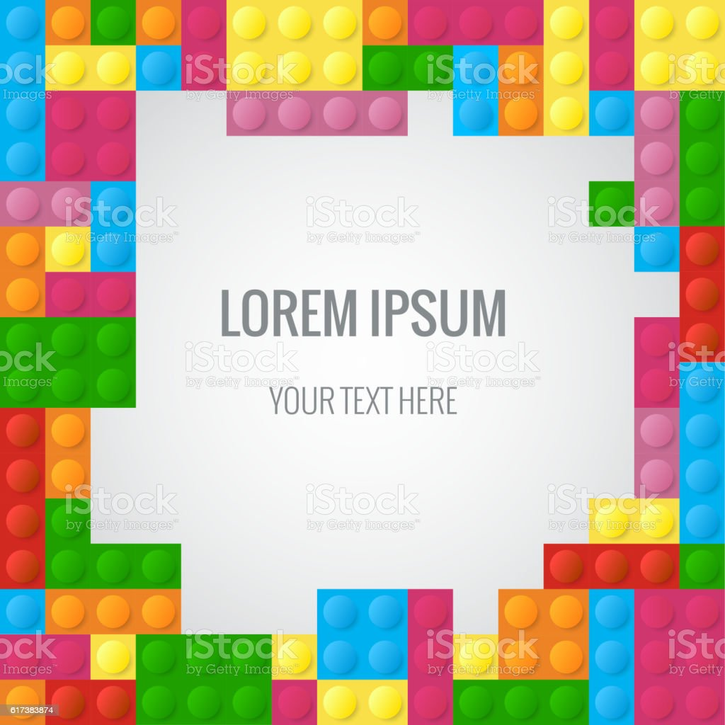 Abstract vector background with plastic blocks parts similar lego abstract vector background with plastic blocks parts similar lego block royalty free abstract vector background stopboris Gallery