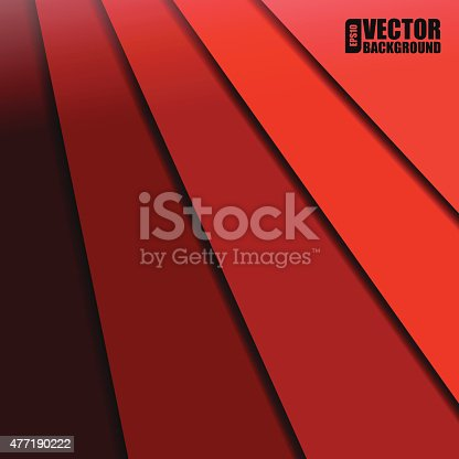 Abstract vector background with red paper layers