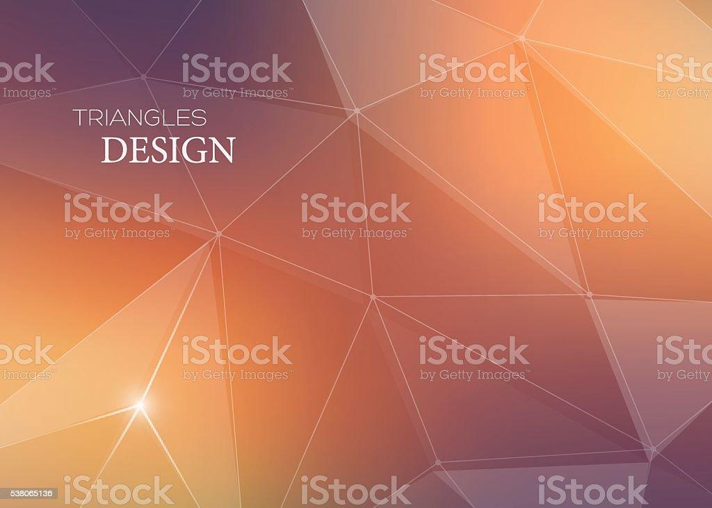 Abstrait Vecteur Fond Avec Des Triangles Et De Lignes Epurees Cartes Visite