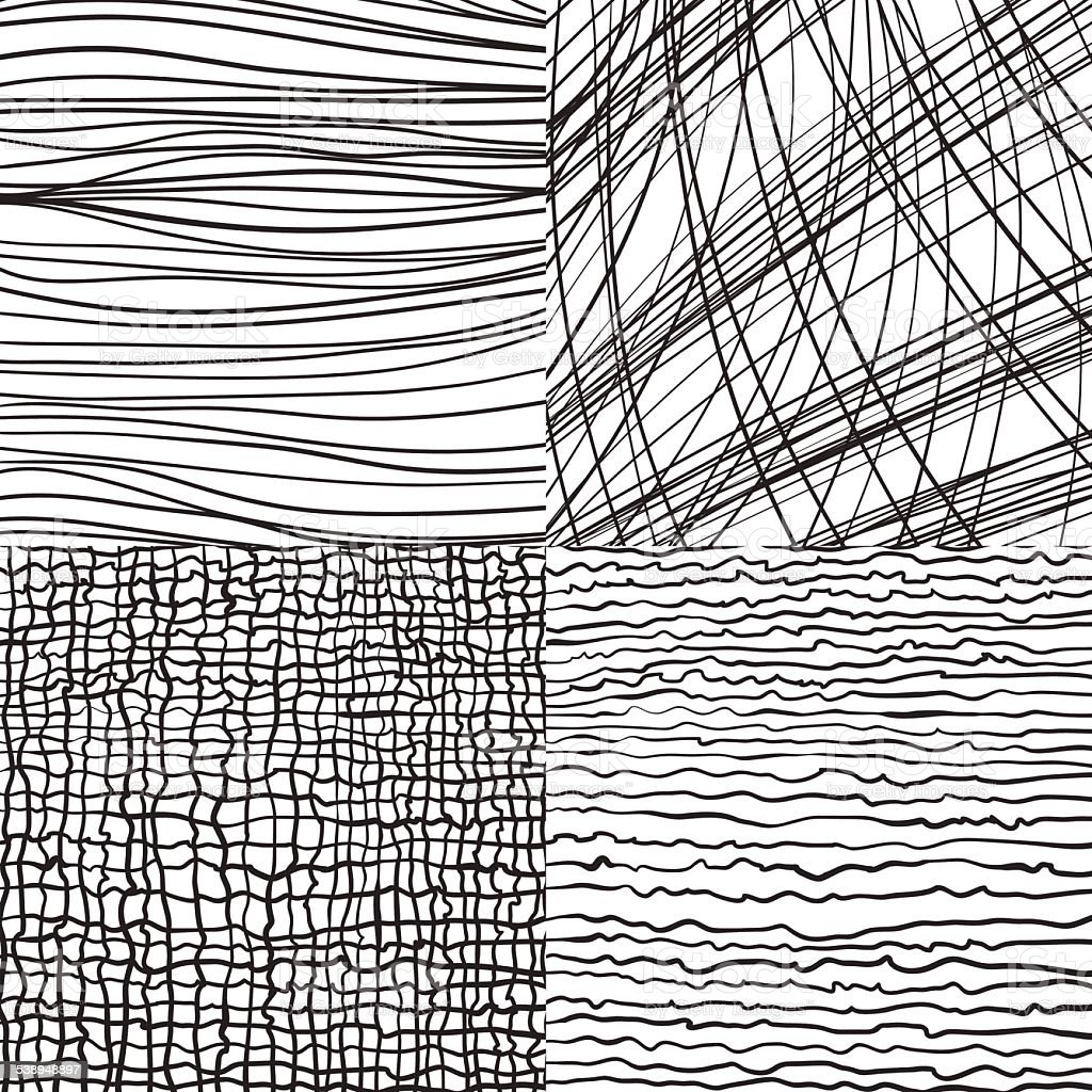 Abstract vector backgrounds set with lines vector art illustration