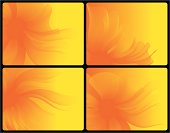 Four Abstract Flowerlike Vector Backgrounds. These images DO NOT use Illustrator´s Gradient Maps, so they´re compatible with Freehand 8 and Illustrator 8 (both files included in the .zip, besides individual high and low resolution .jpgs). Basic gradients and expanded blends.