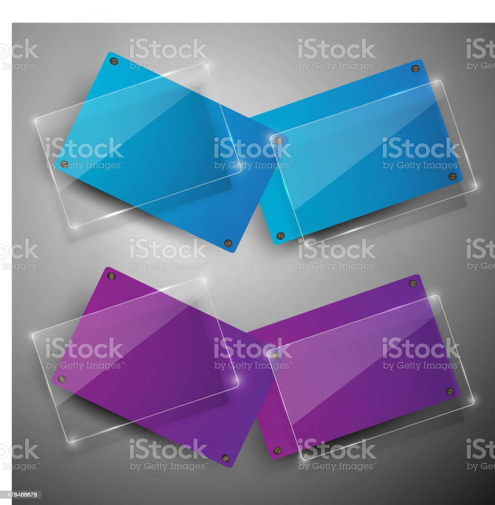 Abstract vector banners set vector art illustration