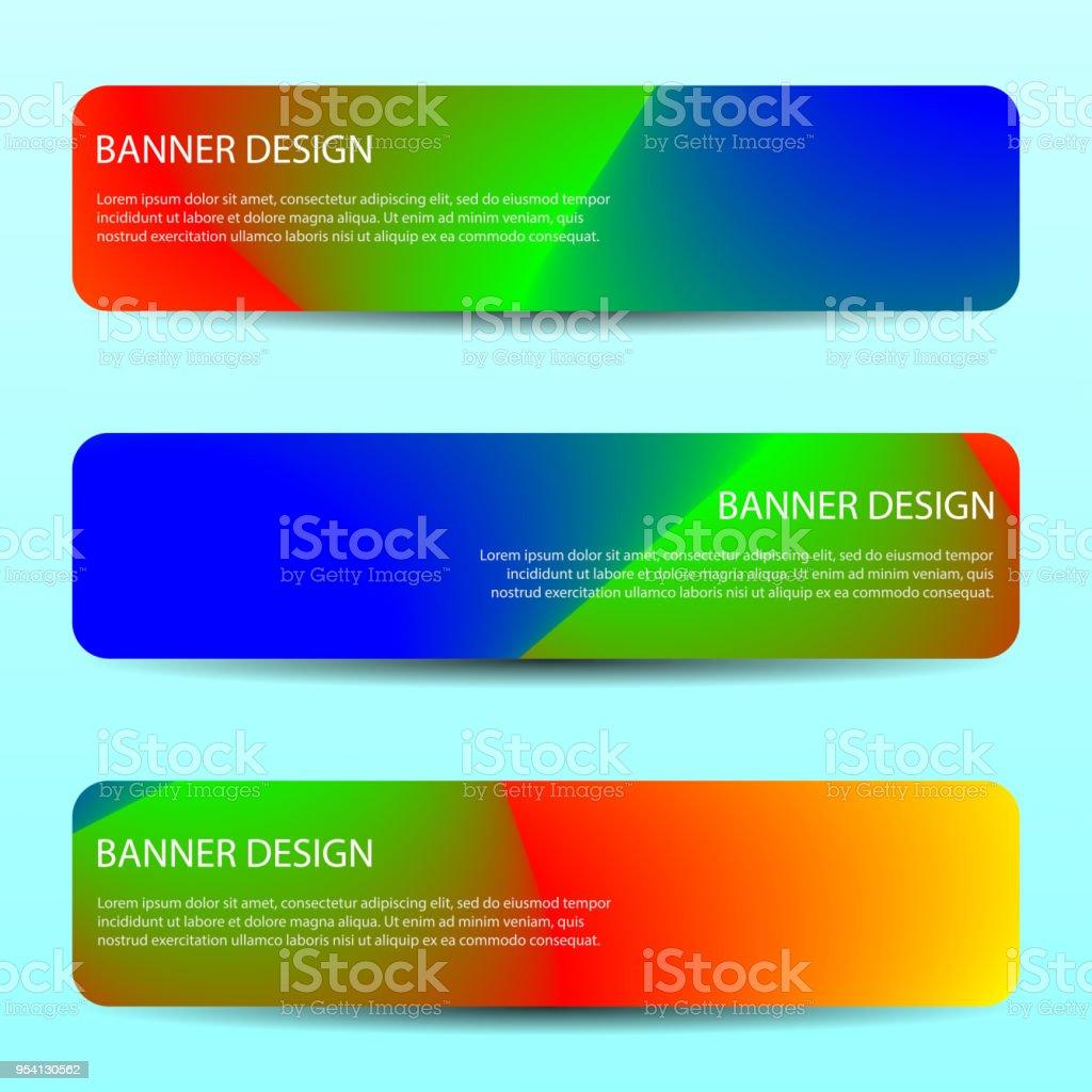 Abstraktes Vektor Banner Mit Helle Wellenlinien Jährlichen Bericht Design  Vorlagen Plakat Vorlage Zukunftsgestaltung Lizenzfreies Abstraktes Vektor