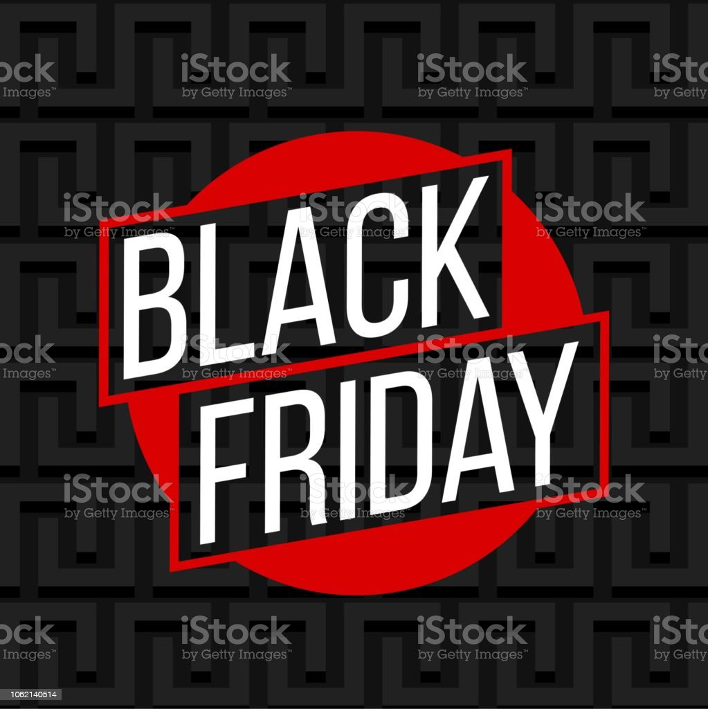 Abstract vector black friday sale layout background. For art template...