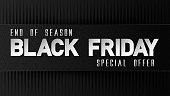 Abstract vector black friday sale layout background for banner, poster, flyer.