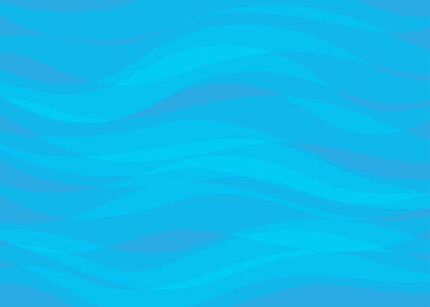 Abstract vector blue lines wave layer shape zigzag concept background flat design style illustration. Abstract vector blue lines wave layer shape zigzag concept background flat design style illustration. beach patterns stock illustrations