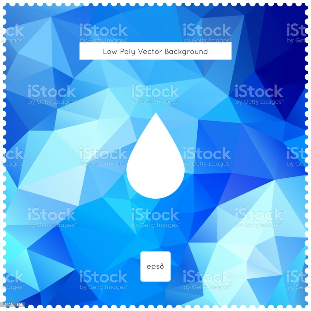 Abstract vector blue polygonal background vector art illustration