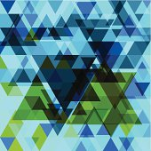 abstract vector blue triangle pattern background.(ai eps10 with transparency effect)