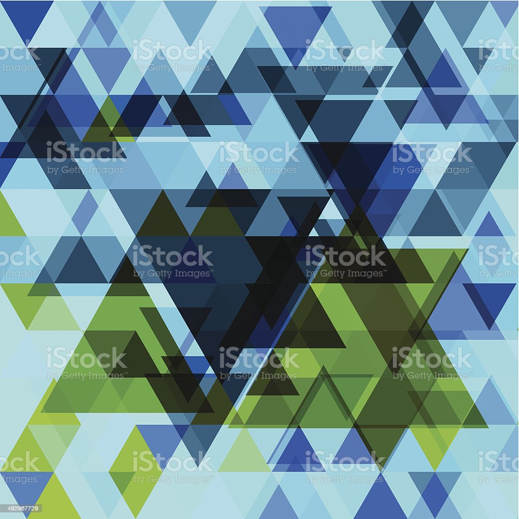 abstract vector blue triangle pattern background vector art illustration