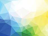modern style abstract vector blue yellow green geometric background