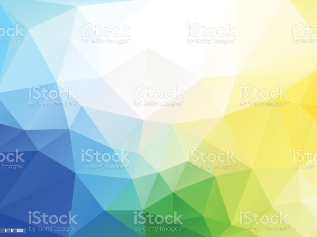 abstract vector blue yellow green geometric background vector art illustration