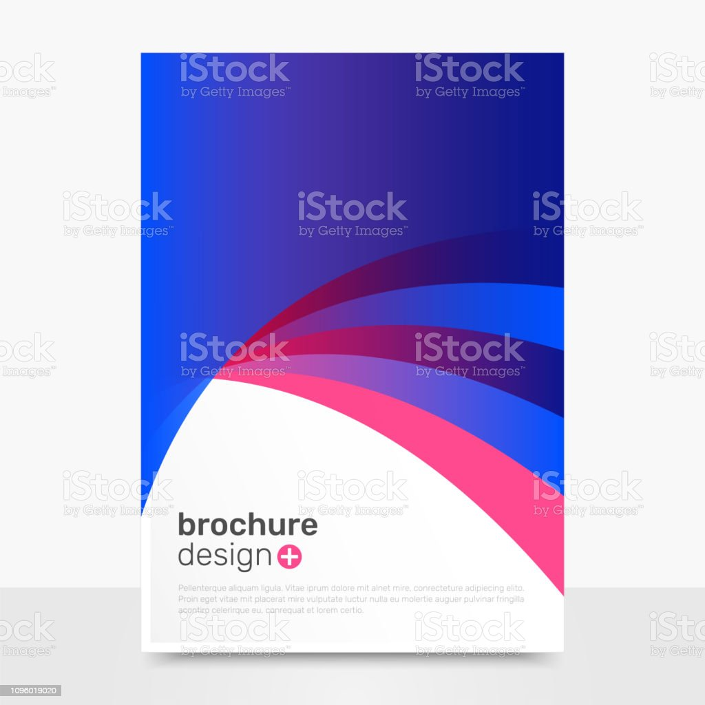 1f75544049 Diseño de folleto de Vector abstracto. Vector creativo folleto maqueta.  Brochure Templates ilustración de