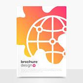 Abstract Vector Brochure Design. Globe Vector Brochure Mockup. Brochure Templates